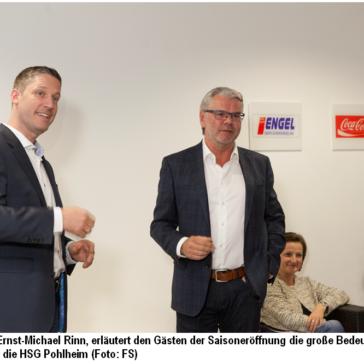 (PMA) Saisoneröffnung der HSG Pohlheim mit Sponsoren gab tiefe Einblicke in die neue Struktur der 1. Mannschaft