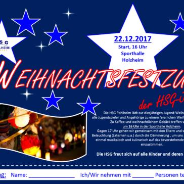 HSG Pohlheim lädt ein zum Weihnachtsfestzug-Bitte anmelden bis zum 15.12.